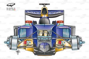 Sauber C22 2003 detailed front view