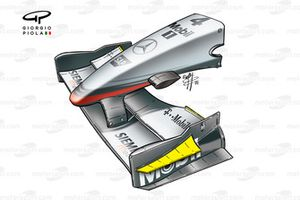 McLaren MP4-17 2002 Canada front wing endplate detail