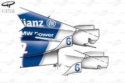 Carrosserie à l'arrière de la Williams FW23