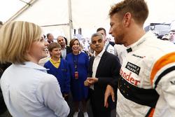 Susie Wolff, Channel 4 F1, Claire Williams, Deputy Team Principal, Williams, Sadiq Khan, Mayor of Lo