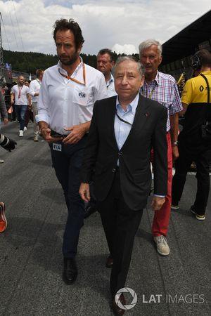 Matteo Bonciani, FIA-Pressesprcher; Jean Todt, FIA-Präsident