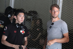 ジェンソン・バトンと中嶋大祐(#16 MOTUL MUGEN NSX-GT)