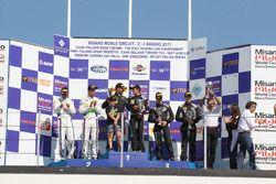 Gara 1 podio STG3 PRO, Agostini-Zampieri (Antonelli Motorsport,Ferrari 488- S.GT3 #63), Malacucelli-