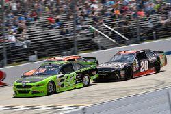 Ryan Blaney, Team Penske, Ford; Matt Tifft, Joe Gibbs Racing, Toyota; Erik Jones, Joe Gibbs Racing,