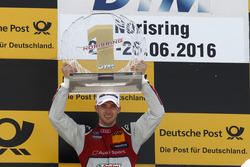 Podium: Race winner Edoardo Mortara, Audi Sport Team Abt Sportsline, Audi RS 5 DTM