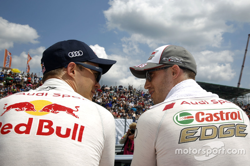 Mattias Ekström, Audi Sport Team Abt Sportsline, Audi A5 DTM and Edoardo Mortara, Audi Sport Team Ab