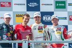 Podio: Nikita Mazepin, HitechGP Dallara F312 - Mercedes-Benz, Lance Stroll, Prema Powerteam Dallara