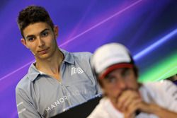 Esteban Ocon, Manor Racing at FIA Press Conference