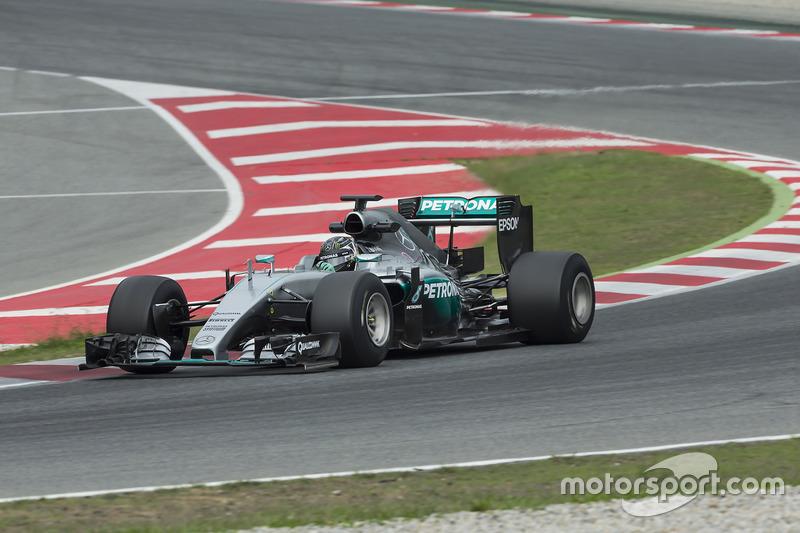 Nico Rosberg, Mercedes F1 Team pruebas neumáticos de Pirelli 2017-spec