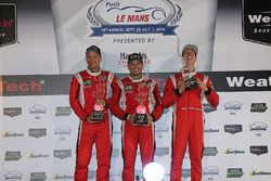 GT Le Mans Podium: first place #62 Risi Competizione Ferrari 488 GTE: Toni Vilander, Giancarlo Fisic