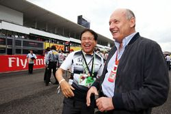 Ron Dennis, McLaren Executive Chairman with Tetsuya Shoji, Chief Executive Officer and President of NTT Communications Corporation