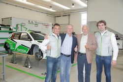 Guido d'Amore, Skoda Motorsport Italia, Michal Hrabánek, SKODA Motorsport Team Chief, Pavel Hortek,