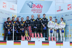 Podium: 2. #6 Haribo Racing Team, Mercedes-AMG GT3: Uwe Alzen, Lance David Arnold, Maximilian Götz,