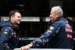 Christian Horner, Red Bull Racing Director del Equipo con Dr. Helmut Marko, Red Bull Racing Team Consultor