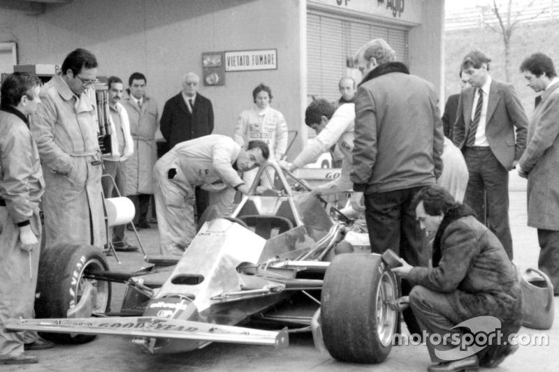First test of the Ferrari 126 C2