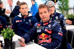 Sébastien Loeb, Team Peugeot Hansen; Timmy Hansen, Team Peugeot Hansen; Kevin Hansen, Peugeot Hansen