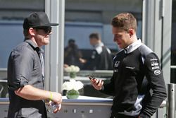 (L to R): Conor Daly, with Stoffel Vandoorne, McLaren Test and Reserve Driver