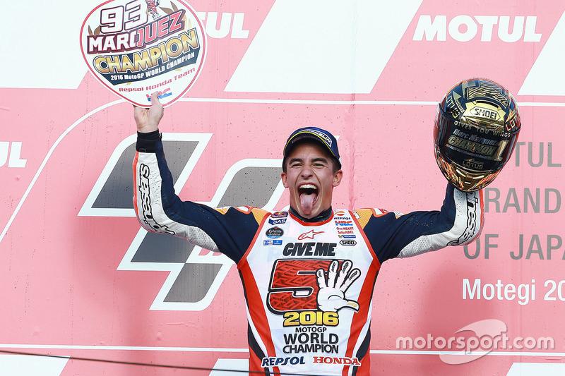 Podio: Marc Marquez ganador de la carrera, Repsol Honda Team