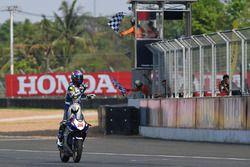 Race 1 Asia Production 250cc winner Apiwat Wongthananon