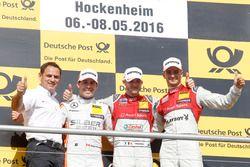 Podium: Hans-Jテシrgen Abt,, Teamchef Abt-Audi; 2nd Robert Wickens, Mercedes-AMG Team HWA, Mercedes-AMG C63 DTM; 1st Edoardo Mortara, Audi Sport Team Abt Sportsline, Audi RS 5 DTM; 3rd Nico Mテシller, Audi Sport Team Abt Sportsline, Audi RS 5 DTM