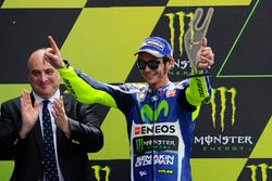 Podium: segundo lugar, Valentino Rossi, Yamaha Factory Racing