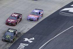 Kurt Busch, Stewart-Haas Racing Chevrolet, Ryan Blaney, Wood Brothers Racing Ford, Kyle Larson, Chip Ganassi Racing Chevrolet