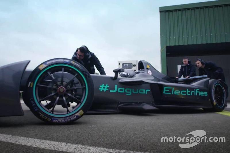 Test Formula E della Jaguar Racing