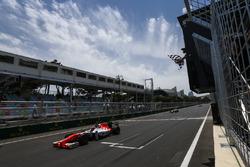 Daniel de Jong, MP Motorsport, crosses the finish line