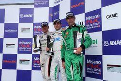 Podio Michelin Cup Gara 1: al secondo posto Livio Selva, Ebimotors - Cermenate, il vincitore Alex De