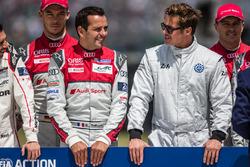 FIA Action for Road Safety photoshoot: #7 Audi Sport Team Joest Audi R18: Marcel Fassler, Andre Lott