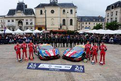 #51 AF Corse, Ferrari 488 GTE: Gianmaria Bruni, James Calado, Alessandro Pier Guidi; #71 AF Corse, F