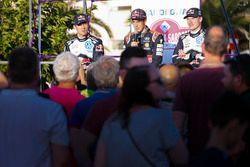Sébastien Ogier, Volkswagen Motorsport; Thierry Neuville, Hyundai Motorsport; Jari-Matti Latvala, Vo