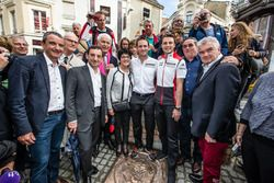 Hand imprint ceremony: 24 Hours of Le Mans 2015 winners Porsche Team Nick Tandy and Earl Bamber with