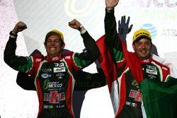 Podio LMP2: Bruno Senna y Ricardo González, #43 RGR Sport by Morand Oreca 05 - Nissan