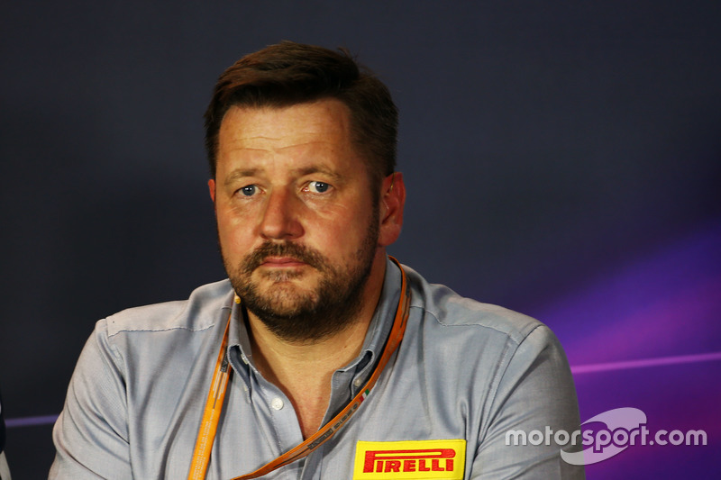 Paul Hembery, Pirelli Motorsport Director in the FIA Press Conference