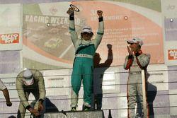Podio TCS gara 2, Davide Pigozzi (WP Racing ASD,Seat Ibiza-TCS 1.8 #205), Emiliano Perrucca Orfei (G