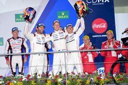 Ganadores #2 Porsche Team Porsche 919 Hybrid: Romain Dumas, Neel Jani, Marc Lieb