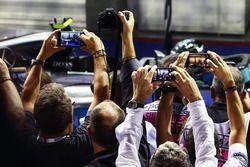 Podium filmed on smartphones