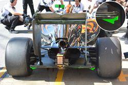 McLaren MP4-31 parte posterior alas detalle