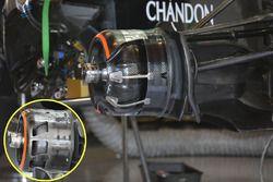Detalle de los conductos de freno de McLaren MP4-31