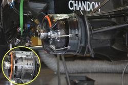 Détails des conduites de frein de McLaren MP4-31