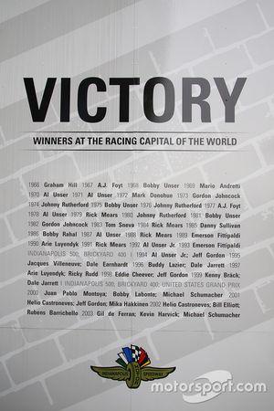 A partial list of winners di Brickyard