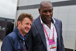 (L to R): Allan McNish, with Frank Bruno, Boing Legend