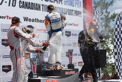PC podium: winners #54 CORE autosport Oreca FLM09: Jon Bennett, Colin Braun, second place #8 Starworks Motorsports ORECA FLM09: Renger van der Zande, Alex Popow, third place #52 PR1 Mathiasen Motorsports Oreca FLM09: Robert Alon, Tom Kimber-Smith