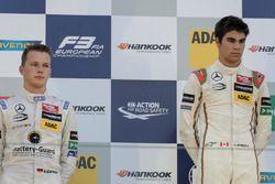 Podium, Lance Stroll, Prema Powerteam Dallara F312 - Mercedes-Benz, Maximilian Günther, Prema Powerteam Dallara F312 - Mercedes-Benz