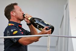 Christian Horner, Team Principal Red Bull Racing sur le podium