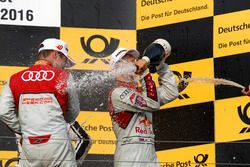 Podio: Adrien Tambay, Audi Sport Team Rosberg, Audi RS 5 DTM e Mattias Ekström, Audi Sport Team Abt