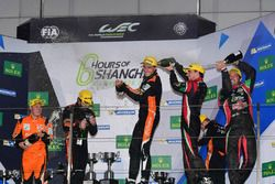 Podium LMP2: winners #26 G-Drive Racing Oreca 05 Nissan: Roman Rusinov, Alex Brundle, Will Stevens,