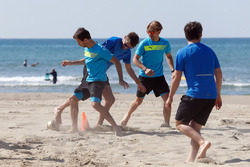 Antonio Felix da Costa, Marco Wittmann and Augusto Farfus, Beach Soccer