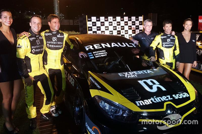 Equipo oficial Renault: Germán Sirvent, Christian Ledemsa, Sergio Polze y Emiliano Spataro